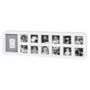 Рамочка Baby Art First Year Print Frame White/Grey (34120085) в интернет-магазине babypremium.com.ua
