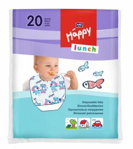 Bella Baby Одноразовые нагрудники Happy Lunch, 20 шт. 5900516651046 в интернет-магазине babypremium.com.ua