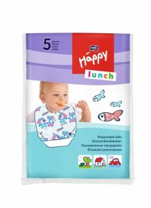 Bella Baby Одноразовые нагрудники Happy Lunch, 5 шт. в интернет-магазине babypremium.com.ua