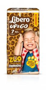 Трусики Libero Up&Go XL Plus 7 (16-26 кг) 40 шт Mega Pack 7322540591071 в интернет-магазине babypremium.com.ua